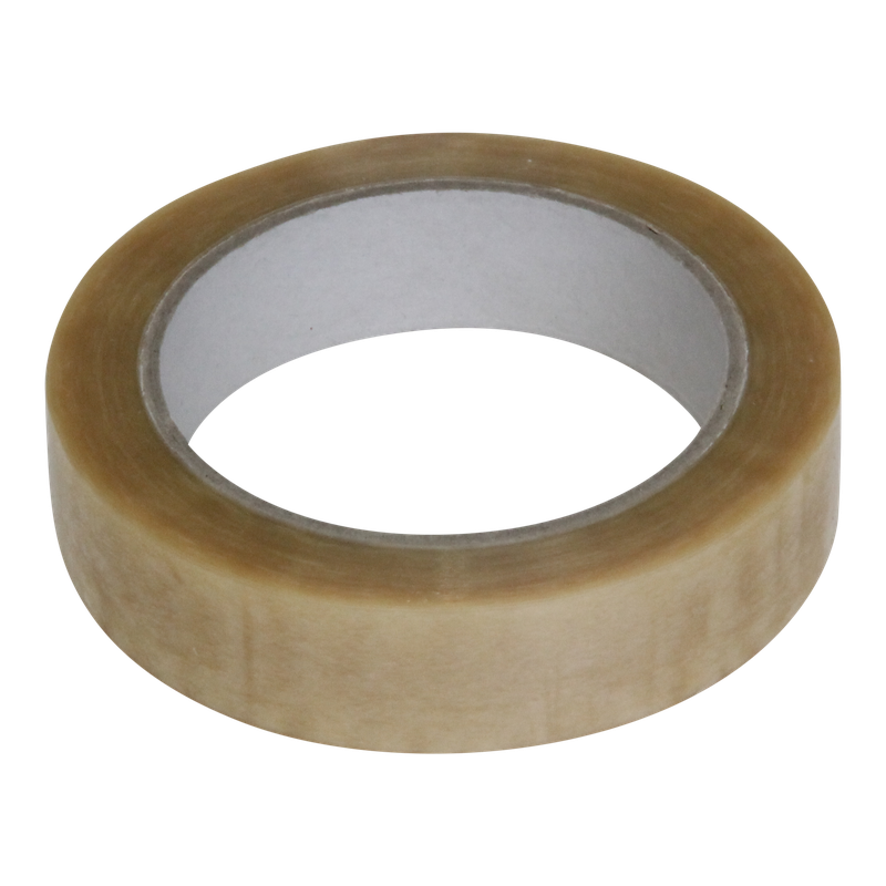 Tape 25mm PVC 66m op rol Transparant 1