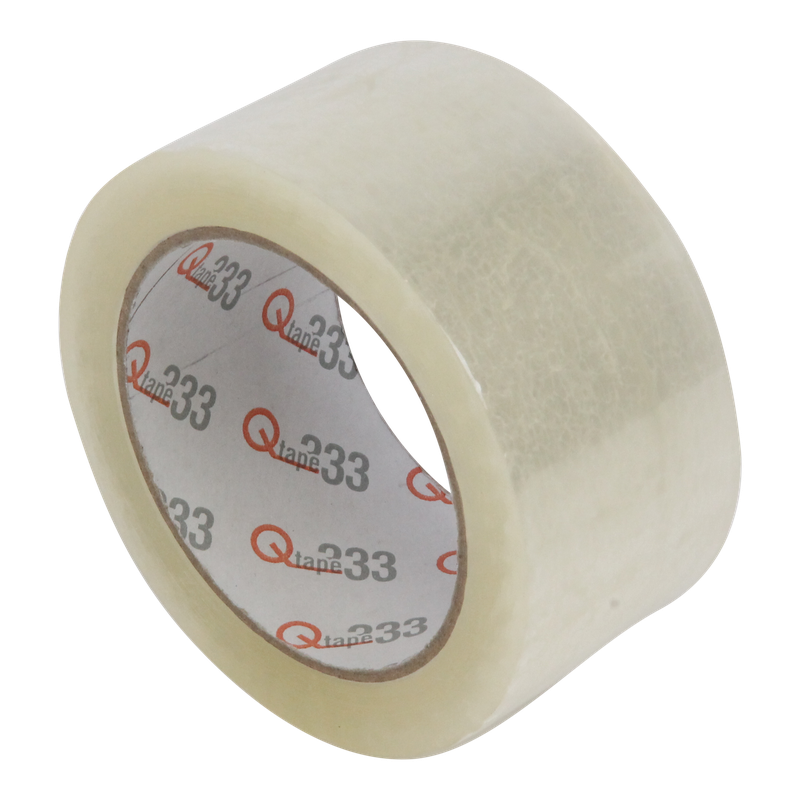 Tape 50mm 35my PP Acrylaat 66m op rol Q333 Transparant 1