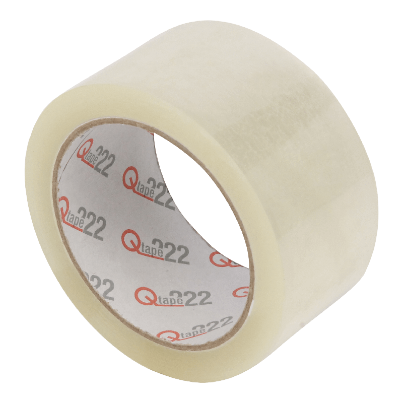 Tape 50mm 28my PP Acrylaat 66m op rol Q222 Transparant 1