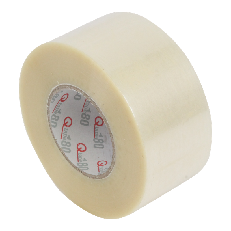 Tape 50mm 15my PET Hotmelt 180m op rol Q180 Transparant 1