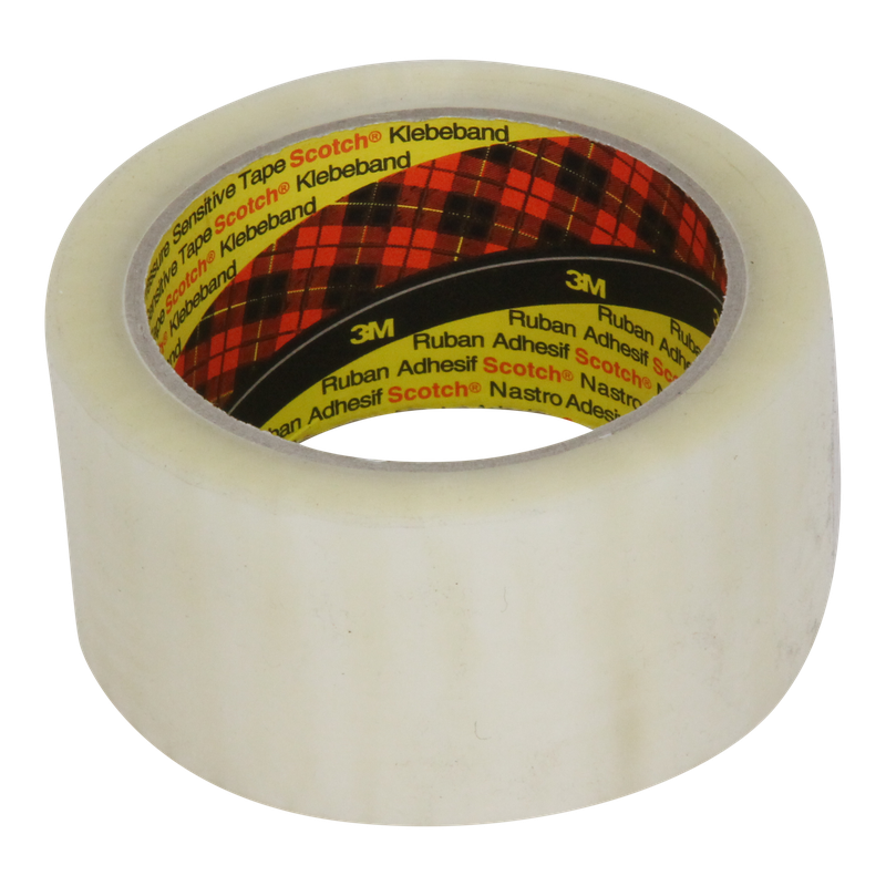 Tape 50mm 28my PP Hotmelt 66m op rol 3M 371 Transparant 1