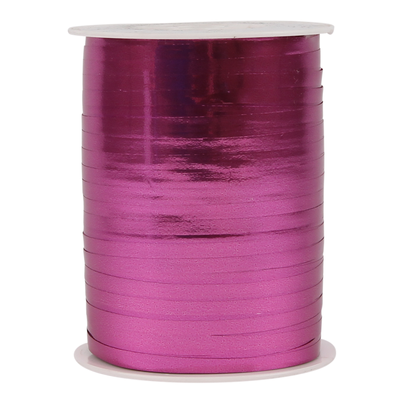 Krullint metallic 5mm Fuchsia 1