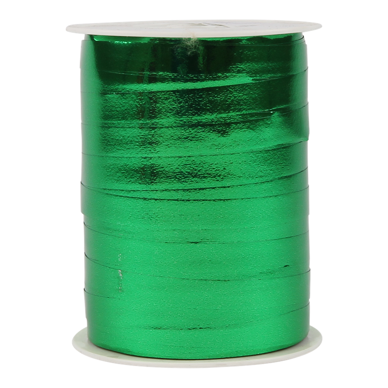 Krullint metallic 10mm Groen 1